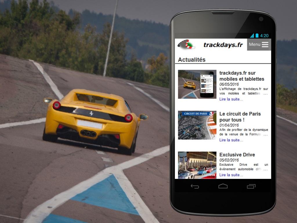 trackdays.fr sur mobiles et tablettes