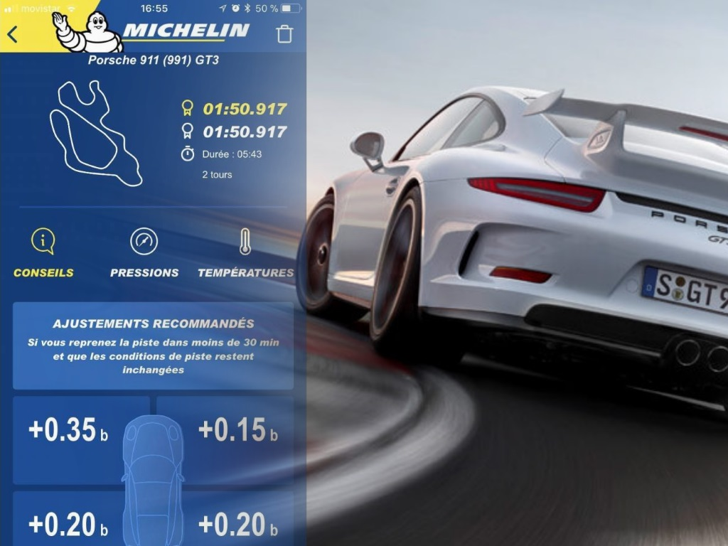 Michelin lance Track Connect